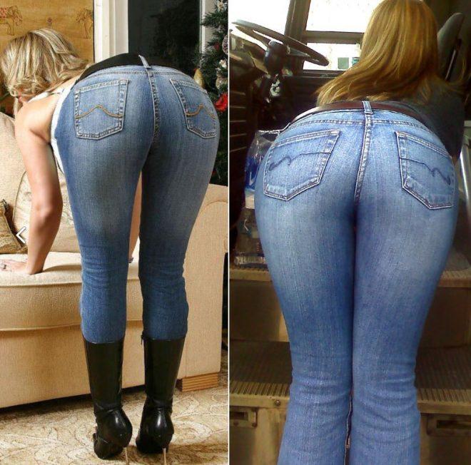 Порно в джинсах с большой жопой, охуенные мамочки в порно